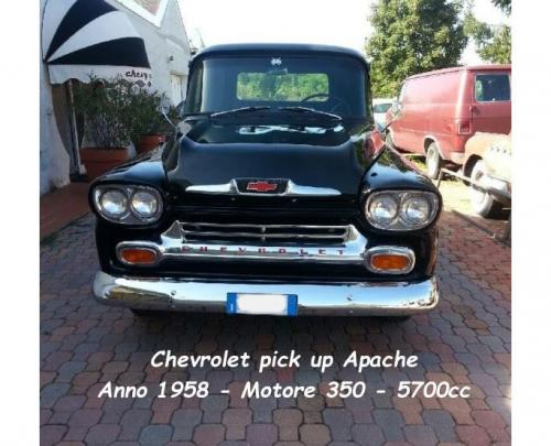 Chevrolet Pick up Apache 1958 motore 350 5700cc