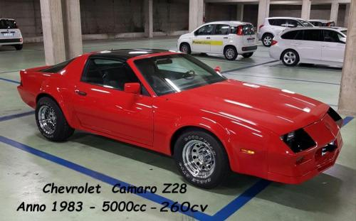 Chevrolet Camaro Z28 1983 5000cc 260cv