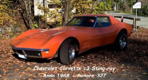 Chevrolet Corvet C3 Sting Ray 1968 motore 327