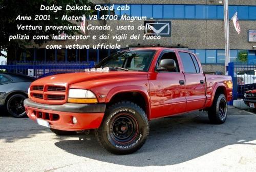 Dodge Dakota Quad cab 2001 V8 4700 Magnum Prov Canada
