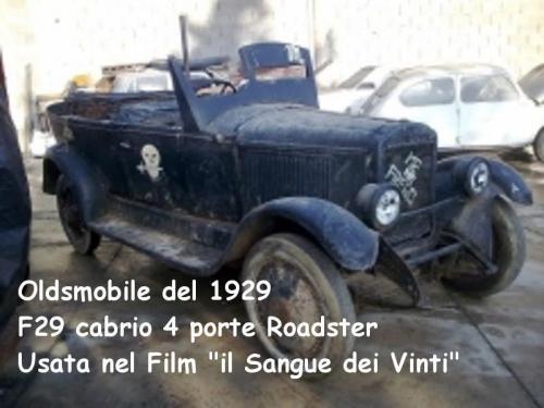 Oldsmobile 1929 f29 cabrio 4 porte Roadster Usata nel film Il sangue dei Vinti